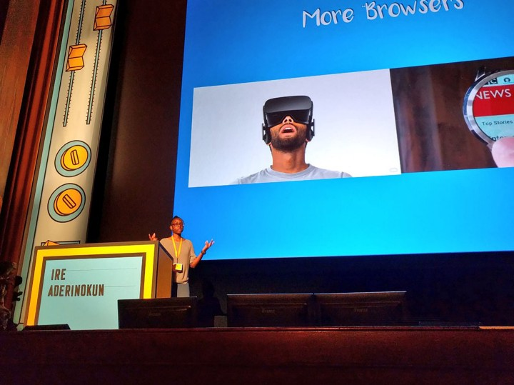 Ire Aderinokun speaking at Fronteers in Amsterdam